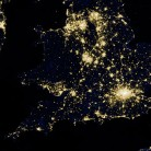 Leo blog on Energy Bill : southern half of Great Britain as it appeared on the night