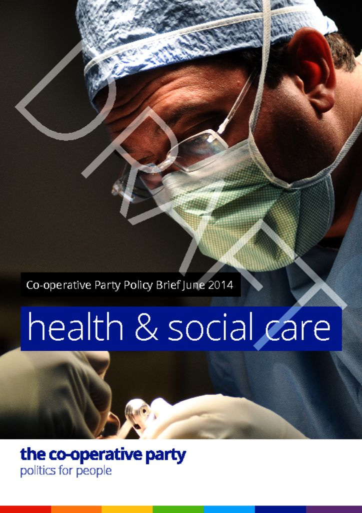 thumbnail of Health and Social Care