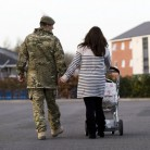 Soldiers from B Company 2nd Battalion The Royal Welsh return home to their base in Tidworth.