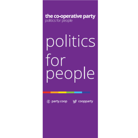 Politics for People - Co-op Party Banner