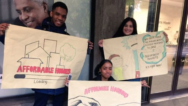 The Advocacy Academy campaign for affordable homes in South London (above) (Courtesy of London CLT)