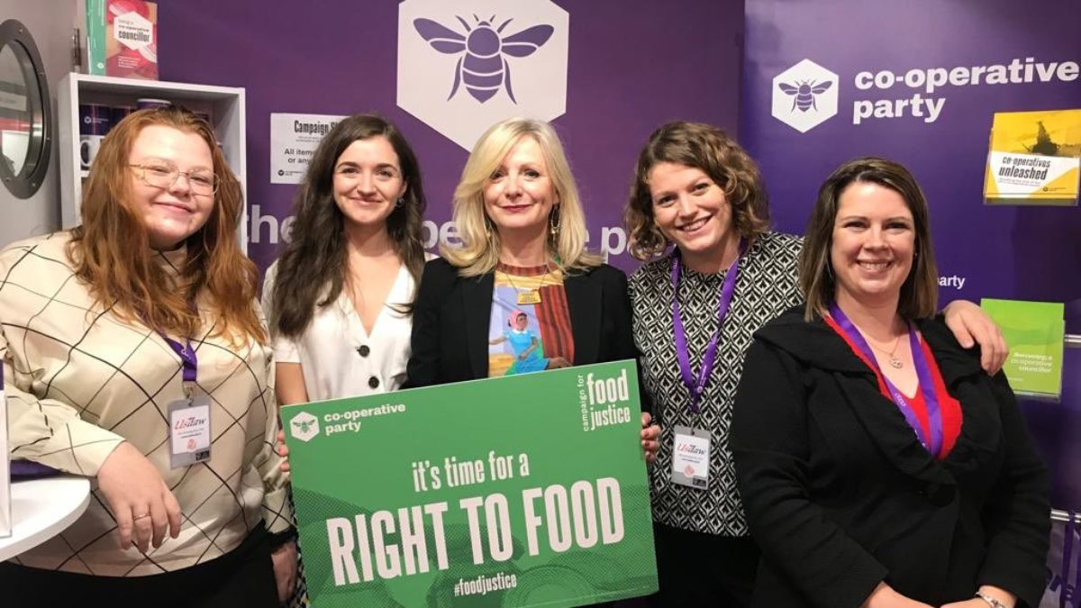 Tracy Brabin at the Co-operative Party stall