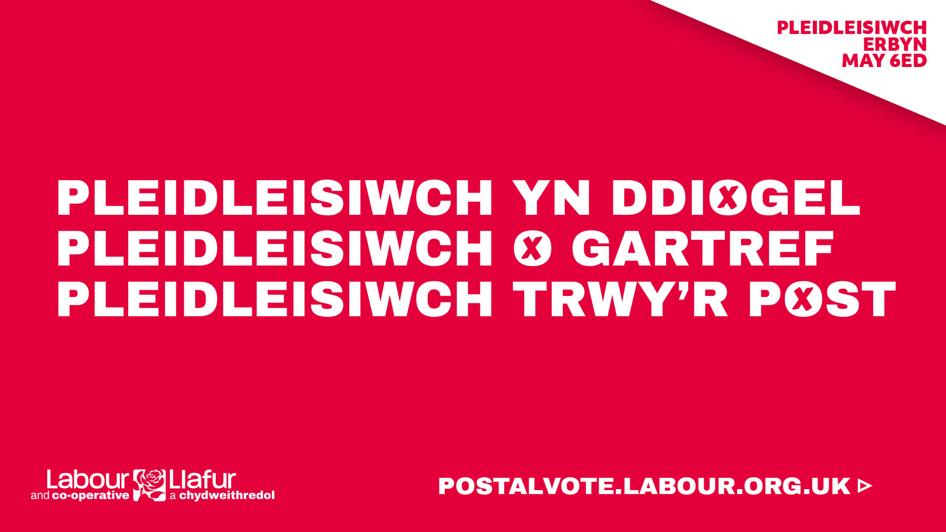 Postal Vote Graphic Wales CY