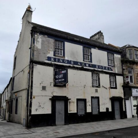 The former pub in Irvine which will be brought back to productive use by Community Wealth Building in North Ayrshire.