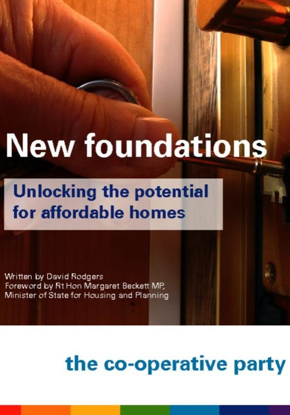 thumbnail of New Foundations: Unlocking the potential for affordable homes