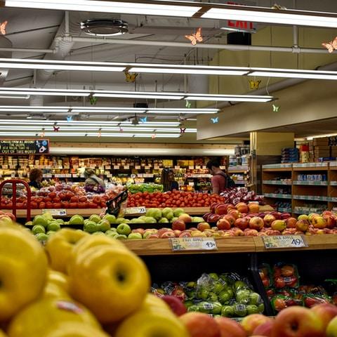 apple fruit lot